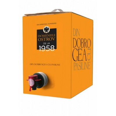 Domeniile Ostrov Merlot Rose Demisec Bag In Box 10l