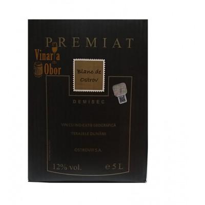 Domeniile Ostrov Premiat Alb Demisec Bag in Box 5l