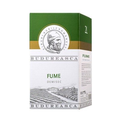 Budureasca, Vin alb demisec Fume, Sauvignon Blanc, Chardonnay, Pinot Gris 2L